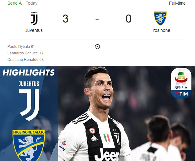 Juventus Vs Frosinone on serie A