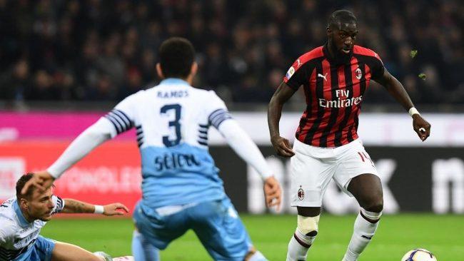 Kemenangan Lazio saat berhadapan dengan AC Milan pada putaran kedua babak semifinal ajang Coppa Italia